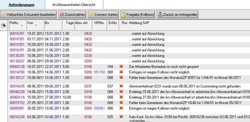 "4. Produktbild Zeitwirtschaft für Lotus Notes SAP HR ""Out of Office"""