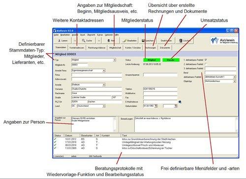 1. Produktbild AixVerein - Mitgliederverwaltung
